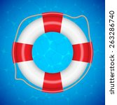 background with lifebuoy. eps10 ... | Shutterstock .eps vector #263286740