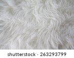 White Artificial Fur Texture...