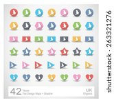 flat design vector maps with... | Shutterstock .eps vector #263321276