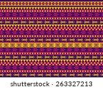 funny seamless geometric vector ... | Shutterstock .eps vector #263327213