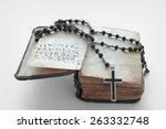 Antique Prayer Book And A Blac...