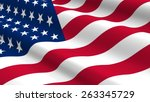 united states flag background.... | Shutterstock . vector #263345729