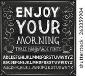 vector three hand drawn fonts.... | Shutterstock .eps vector #263359904