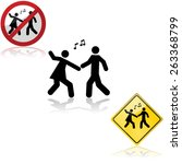 icon set with signs showing a... | Shutterstock .eps vector #263368799