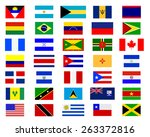 flags of the americas on a... | Shutterstock .eps vector #263372816