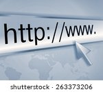 cursor pointing at http www... | Shutterstock . vector #263373206