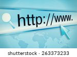 cursor pointing at http www... | Shutterstock . vector #263373233