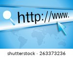 cursor pointing at http www... | Shutterstock . vector #263373236
