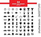 sport and award icon set | Shutterstock .eps vector #263377193