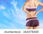pain  painful  back. | Shutterstock . vector #263378300