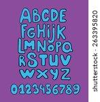 cartoon vector alphabet | Shutterstock .eps vector #263395820