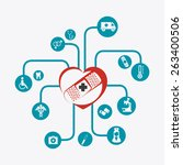 medical design over white... | Shutterstock .eps vector #263400506