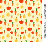 seamless pattern made of cute... | Shutterstock .eps vector #263402888