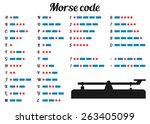 Vector Illustration. Morse Code ...