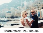 young couple in monaco  monte... | Shutterstock . vector #263406806