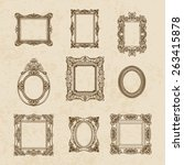 vector vintage hand drawn set... | Shutterstock .eps vector #263415878