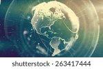 digital world. computer... | Shutterstock . vector #263417444