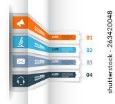 modern 3d infographics for e... | Shutterstock .eps vector #263420048
