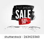 vector half price sale... | Shutterstock .eps vector #263423360
