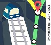 metro  subway  underground... | Shutterstock .eps vector #263424326