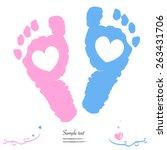 Twin Baby Girl And Boy Feet...