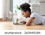 African American Woman Using A...