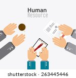 human resources over white... | Shutterstock .eps vector #263445446