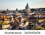 Panorama Of Rome From Spanish...