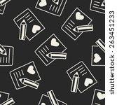 love letter doodle drawing... | Shutterstock .eps vector #263451233