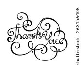 thank you inscription. hand... | Shutterstock . vector #263456408