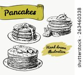 illustration of set of pancakes ... | Shutterstock .eps vector #263460338