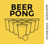 beer pong drinking game | Shutterstock .eps vector #263461049