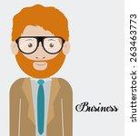 businesspeople design over... | Shutterstock .eps vector #263463773