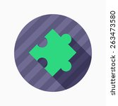 puzzle flat icon with long...