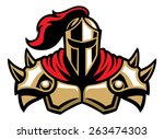 knight warrior mascot | Shutterstock .eps vector #263474303