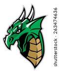 Green Dragon Head Mascot