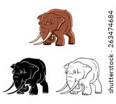 elephants mascot set collection ...   Shutterstock .eps vector #263474684