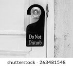 do not disturb sign hang on... | Shutterstock . vector #263481548