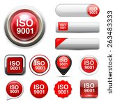 iso 9001 | Shutterstock .eps vector #263483333