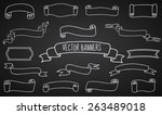 set of hand drawn ribbons and... | Shutterstock .eps vector #263489018