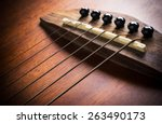 Detail Of Acoustic Guitar Focus ...