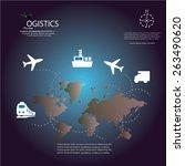 logistics technology concept...   Shutterstock .eps vector #263490620