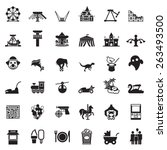 Theme Park And Zoo Icon Vector...
