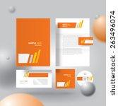corporate identity design...   Shutterstock .eps vector #263496074