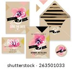 collection of wedding... | Shutterstock .eps vector #263501033