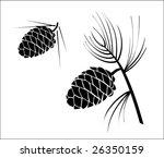 Vector Illustration Of Pinecone ...