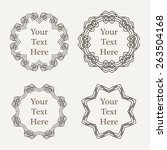 vector ornate decorated vintage ... | Shutterstock .eps vector #263504168
