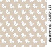 Seamless  Duck Pattern. Many...