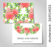 wedding invitation cards with... | Shutterstock .eps vector #263514023