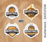 basketball championship logo... | Shutterstock .eps vector #263515100